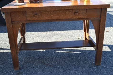 antique oak library table antique mission oak library table desk vf ebay