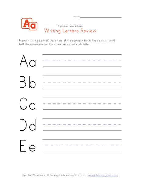 Memo Writing Exercises Alphabet Handwriting Practice Worksheets