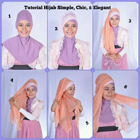 tutorial hijab pasmina simple elegant 28 foto tutorial hijab pesta yang elegan paling update