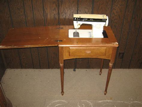 sewing machine with wooden cabinet singer gladstone