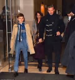 Beckham And To Design Childrens Line by Beckham Family Make Their Way To S Nyfw Show
