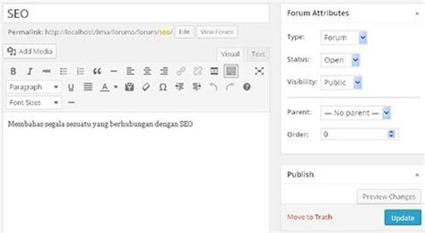 tutorial bbpress wordpress tutorial membuat forum pada wordpress dengan bbpress