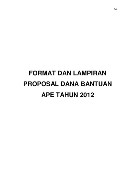 format proposal dana juknis penyaluran dana ape tahun 2012 final