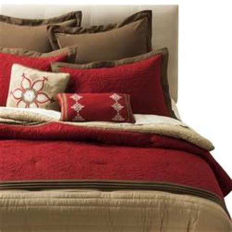 target queen bed sets 8 pc bedding set queen red embroidery at target black