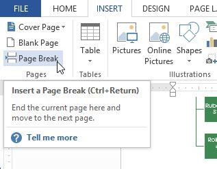 how to add a section break in word page breaks computer technology