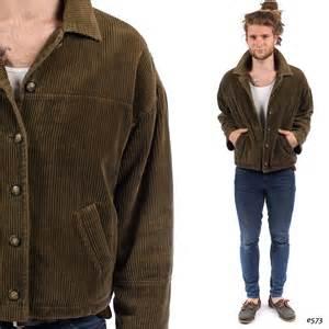 Barn Coats Mens Mens Corduroy Jacket Vintage 1980s Insulated Bomber Jacket