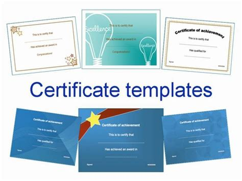 certificate template powerpoint certificate clip set 2
