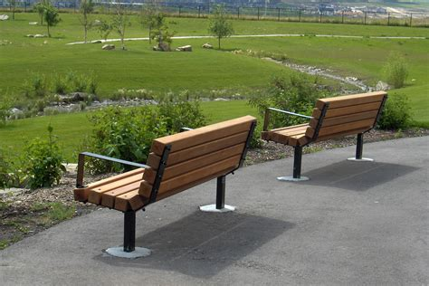 wood park bench series b benches custom park leisure
