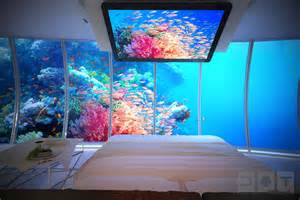Undersea Bedroom Underwater Bedroom Aquarium Walls Interior Design Ideas