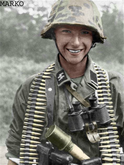 wwii german ss soldiers colorizations by users ss soldier