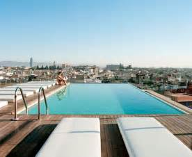 Infinity Rooftop Pool Magestic Mountain Top Infinity Pools Barcelona Grand