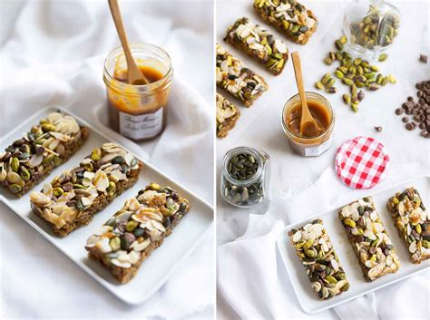 oatmeal bars with chocolate topping oat bars with pistachios almonds chocolate chips caramel topping