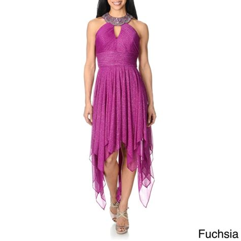 purple evening formal dresses overstock shopping cachet women s halter handkerchief hem formal dress free