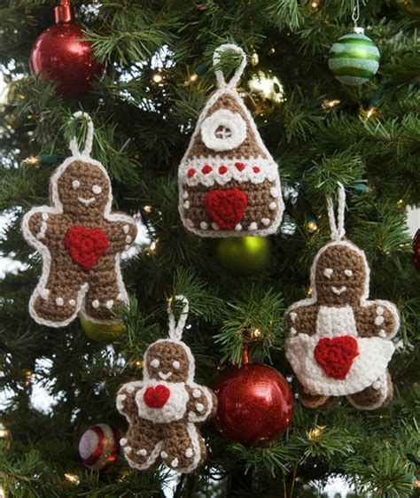crochet patterns galore gingerbread tree ornaments