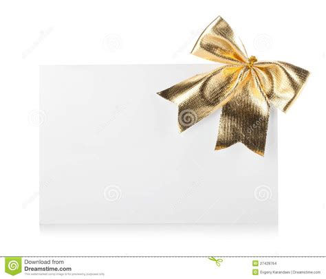 Empty Gift Cards - empty gift card and bow decor stock images image 27428764