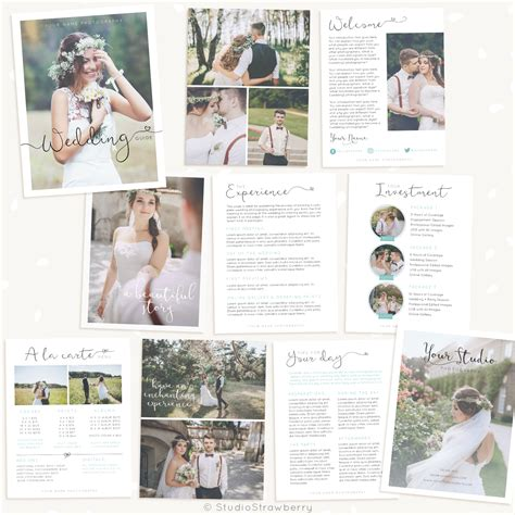 Wedding Photography Magazine Template Strawberry Kit Wedding Photography Magazine Template