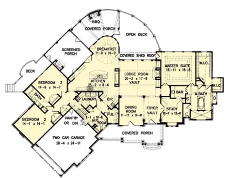 amicalola house plan the amicalola cottage house plans first floor plan house plans by designs direct
