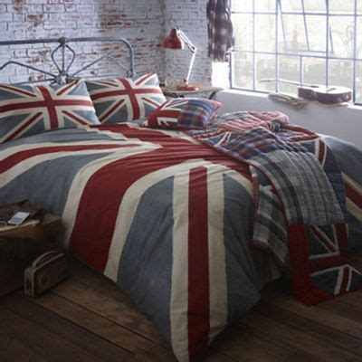 home collection grey vintage union jack bedding set