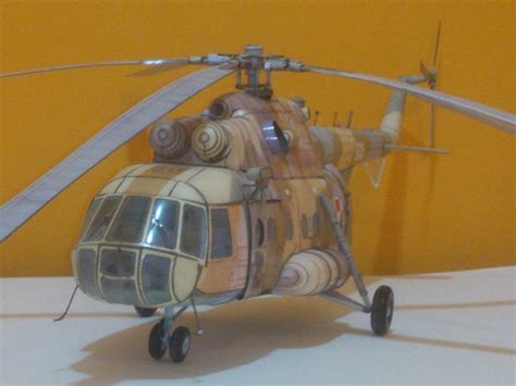 Papercraft Helicopter - amazing paper model of helicopter