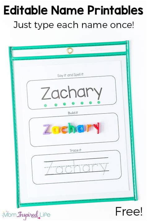 printable name tracing cards editable name spelling and tracing printables