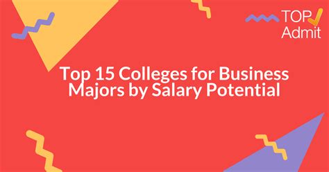 Georgetown Mba Salary Statistics by Top 15 Colleges For Business Majors By Salary Potential