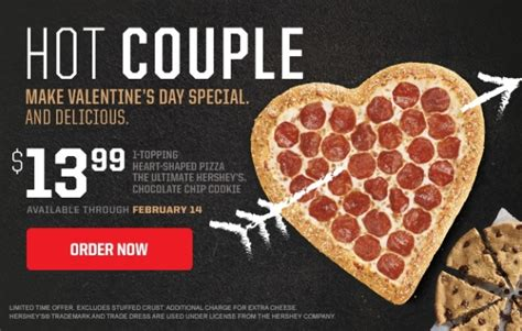 valentines day pizza pizza hut offers shaped pizza this year for