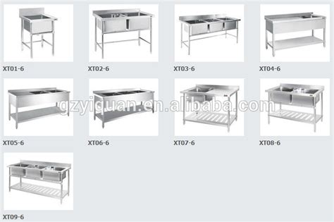 Stainless Steel Commercial Kitchen Cabinets by Sale Stainless Steel Kitchen Sink With Work Bench