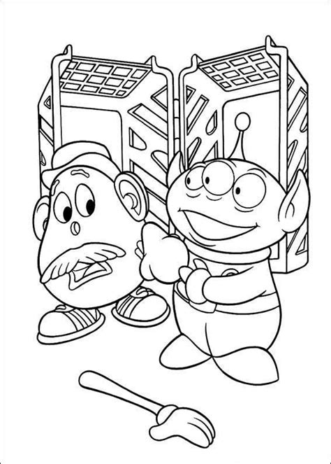 free coloring pages of toy story the aliens