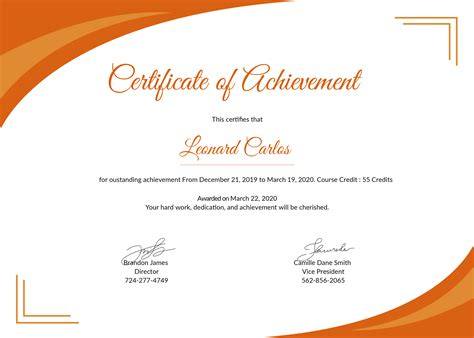 Free Certificate Of Achievement Template In Psd Ms Word Publisher Illustrator Indesign Create Certificate Template