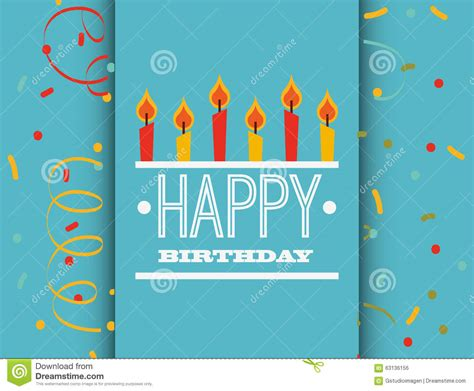 happy birthday card design vector illustration happy birthday card design stock vector image of paper