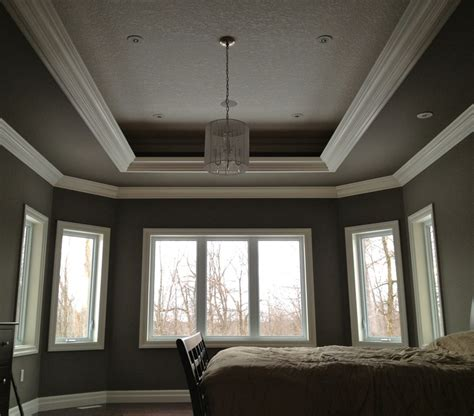Orange Peel Ceiling by Trey Ceiling With A Three Layer Crown Design And Orange