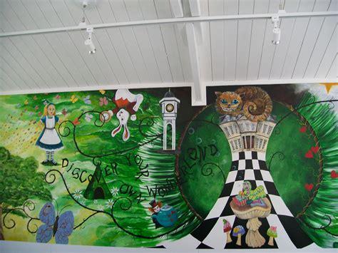 alice in wonderland mural alice in wonderland decor ideas pinter alice mural heyuguys