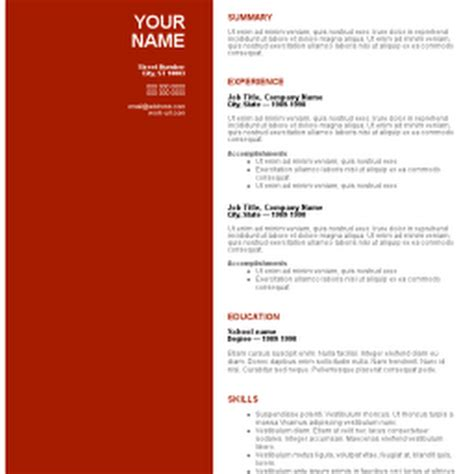 free ms resume templates