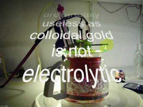 high voltage colloidal gold colloidal gold high voltage method