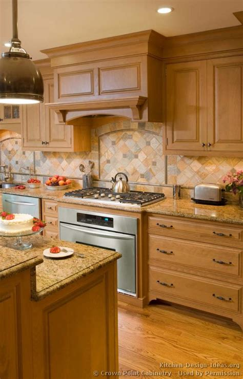 kitchen backsplash ideas with cabinets pictures of kitchens traditional light wood kitchen