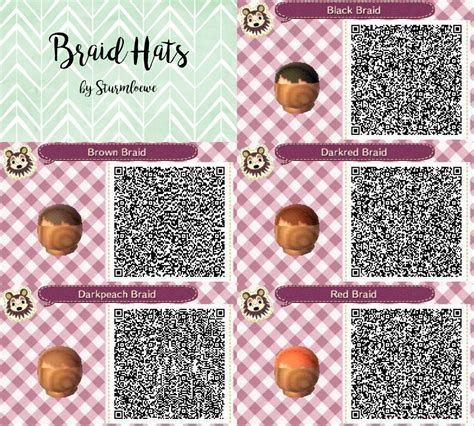 Acnl Hair Braid Qr | animal crossing new leaf qr code cute braided hair braid