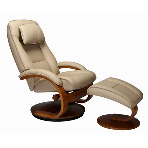 leather reclining chair and ottoman set mac motion oslo swivel recliner and ottoman in cobblestone