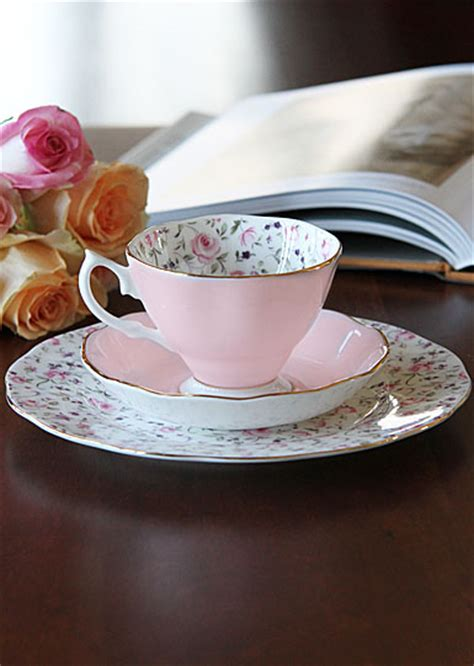 Teacup New Country royal albert china new country roses confetti 3 set teacup saucer and dessert plate