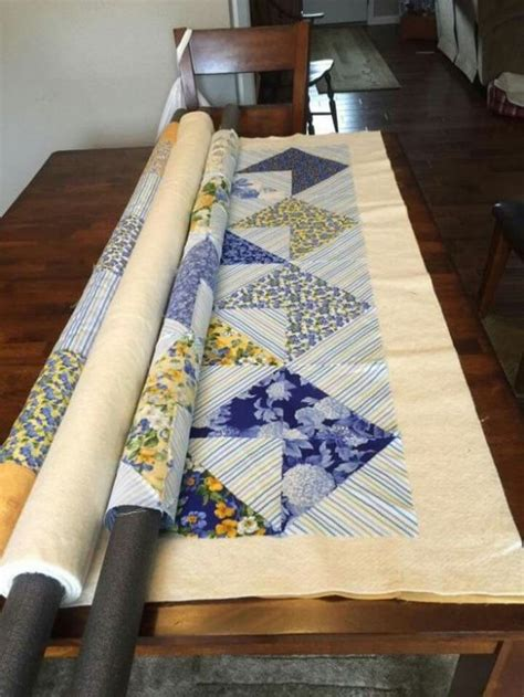 How To Quilt Without A Frame by Pool Noodles Are A Big Help In The Sewing Room Quilting