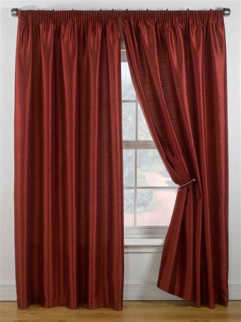 red faux silk curtains linea faux silk red curtains 229x137cm 148387756 review