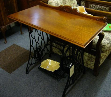 singer treadle base with silky oak top c1930 s southside