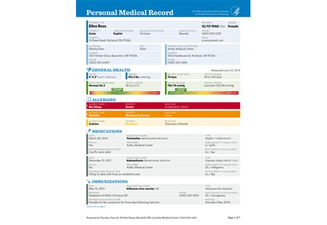 layout of a medical report the personal medical record pdf report builder health