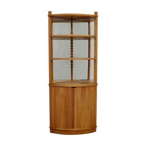 cherry wood corner cabinet 86 off cherry wood mirrored corner cabinet storage