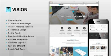 vision multi purpose business template by themeple