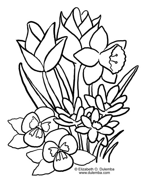 Spring Coloring Pages 2011 Springtime Coloring Pages