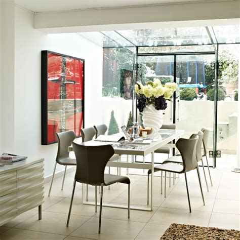 Dining Room Extension Ideas Dining Room With A Gslass Ceiling Modern Design Idea