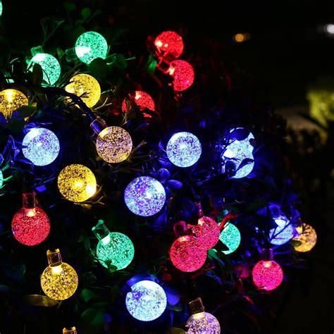 outdoor led globe string lights outdoor lighting 30 led solar string fairy lights solar