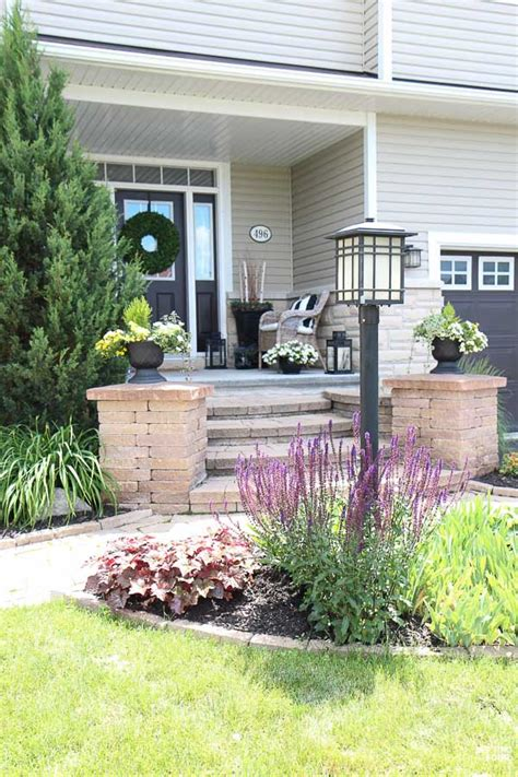 Light Post Landscaping Ideas Landscaping Around A L Post Setting For Four