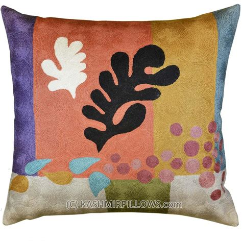 Contemporary Throw Pillows For Sofa Matisse Modern Throw Pillows Cut Outs Coral Flower Cushion Cover Gold Accent Purple Sofa Pillows