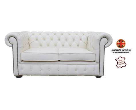 2 seater real leather sofa chesterfield genuine leather shelly white two seater sofa